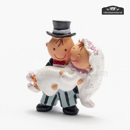 Imán Pit & Pita Novia en brazos
