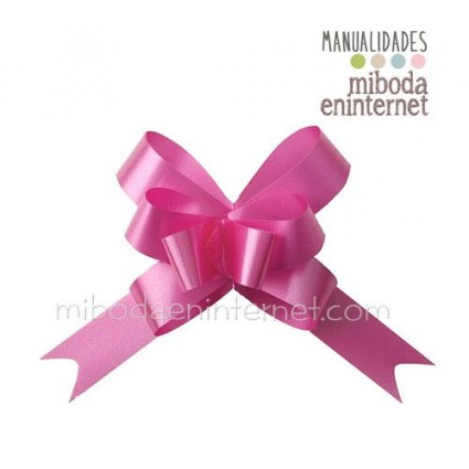 Pack 10 ud. lazo mágico rosa metalizado