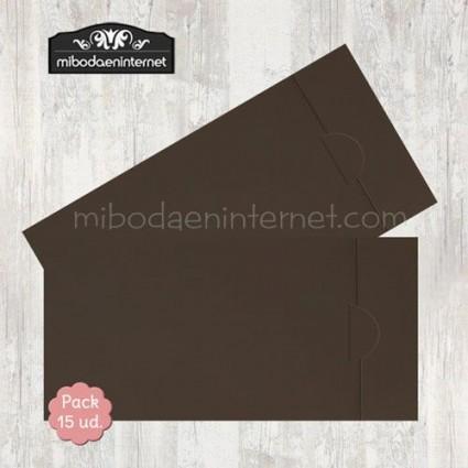 Pack 15 ud sobre americano chocolate apertura lateral