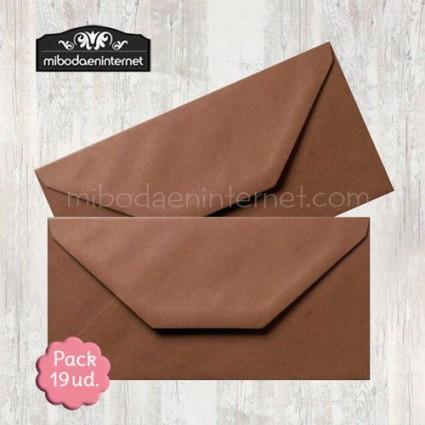 Pack 19 ud Sobre Americano marrón chocolate