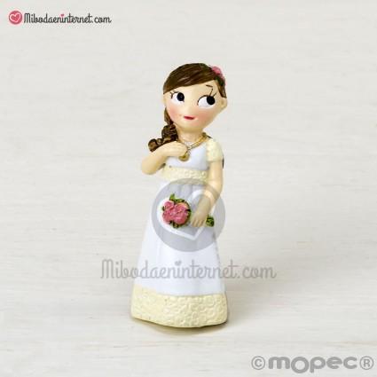 Imán Comunión niña vestido romántico