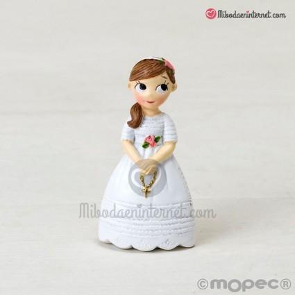 Imán Comunión niña rosario