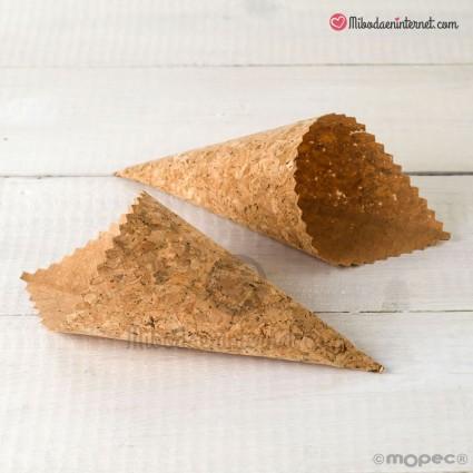 Conos de corcho para pétalos o arroz