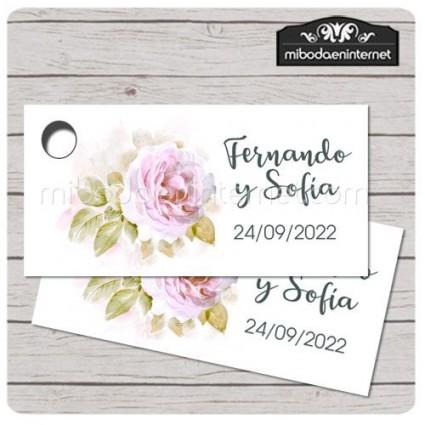 Etiqueta Detalle Boda Peonia