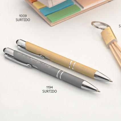 Bolígrafo bambú en dos tonos surtido