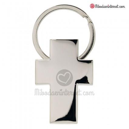 Llavero metal cruz