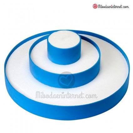 Expositor tarta tres pisos Azul