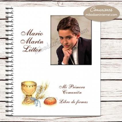Libro de Firmas Primera Comunión portada con fotografía