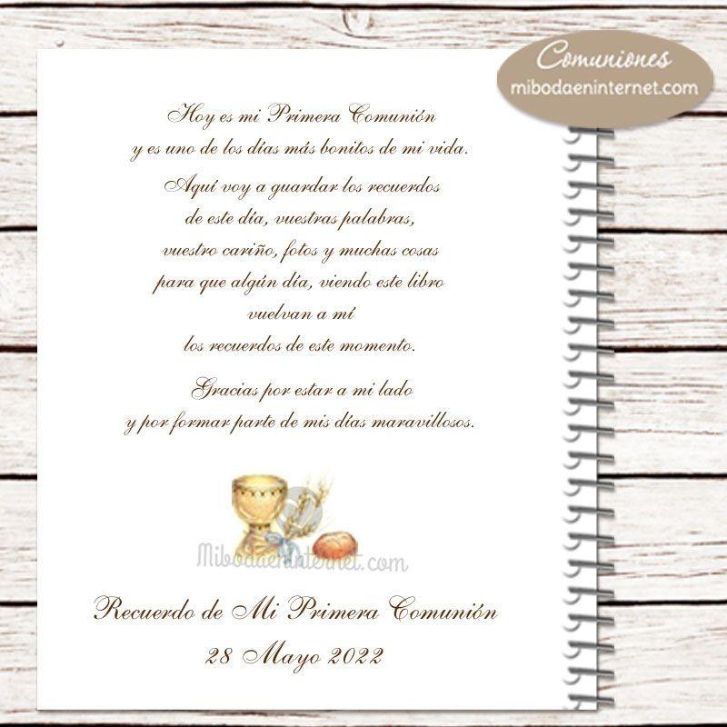 Libro De Firmas Primera Comunión Eucaristia Foto