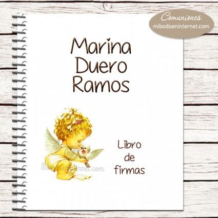 Libro de Firmas Primera Comunión portada personalizada