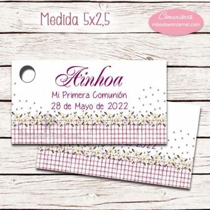 Etiqueta detalle Primera Comunión nodelo Jardín