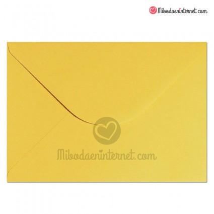 Sobre Amarillo para invitaciones de boda