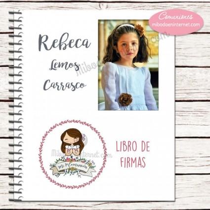 Libro de Firmas Primera Comunión Daniela Foto