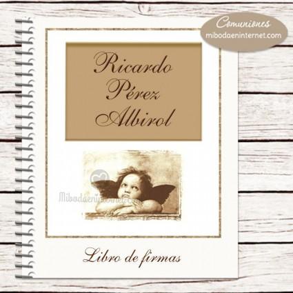 Libro de Firmas Primera Comunión modelo angel Raffaello
