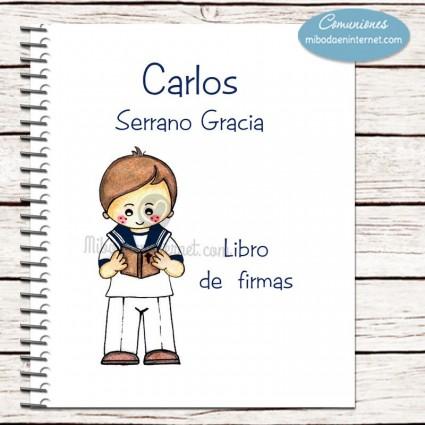 Libro de Firmas Primera Comunión traje marinero modelo Nacho