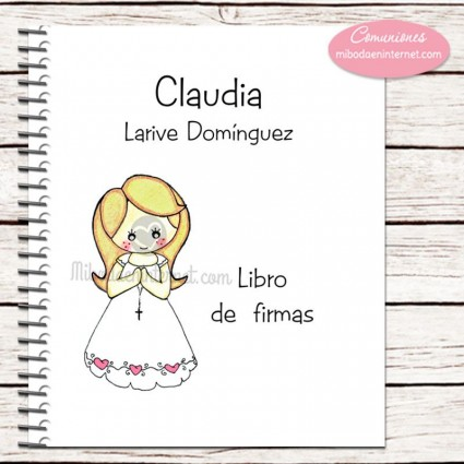 Libro de Firmas Primera Comunión niña Lucía