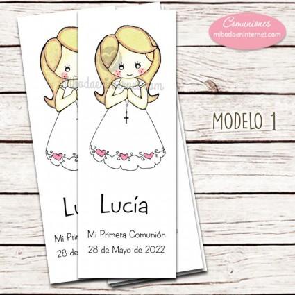 Punto de Libro de Primera Comunión modelo Lucia modelo 1