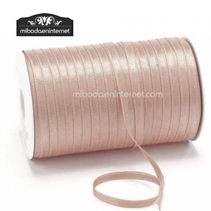 Cinta Raso Beig rosado 3mm - Metro