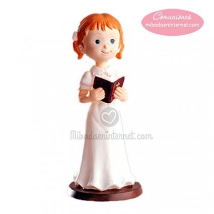 Figura Tarta niña con libro pelirroja