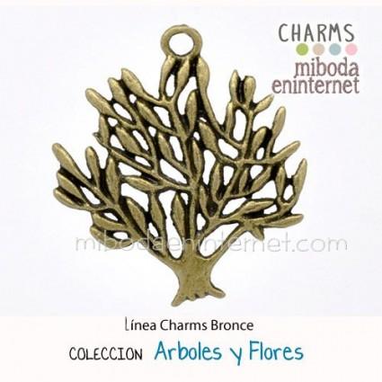 Charm Arbol de la Vida bronce silueta