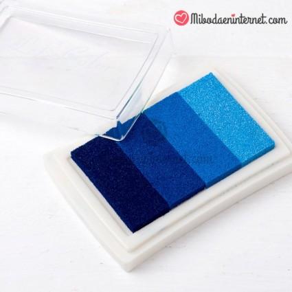 Tinta para Sello Tampón Azul Gradiente Scrapbooking