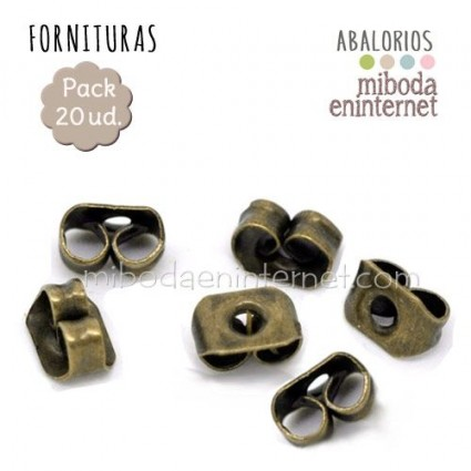 20ud Tope pendiente metal bronce 5x4