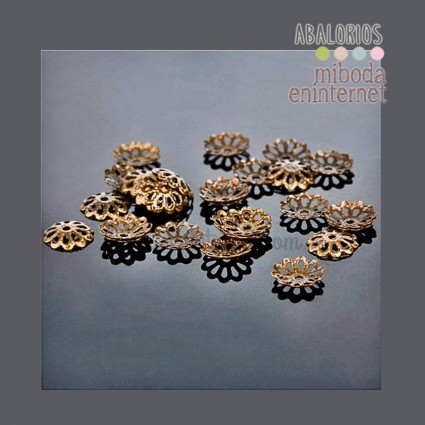 10 ud casquillos para bolas bronce 6mm