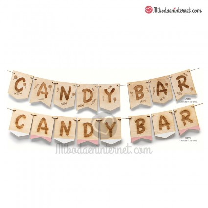 Guirnalda Madera Candy Bar