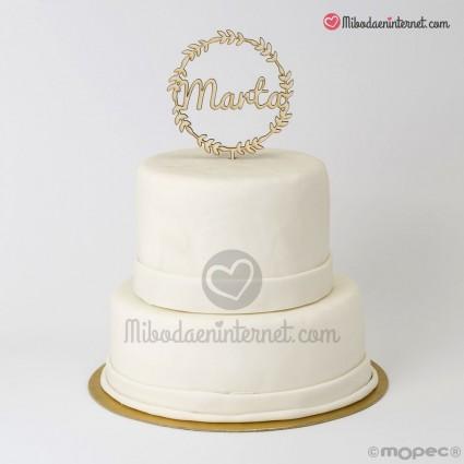 Cake Topper Corona Nombre