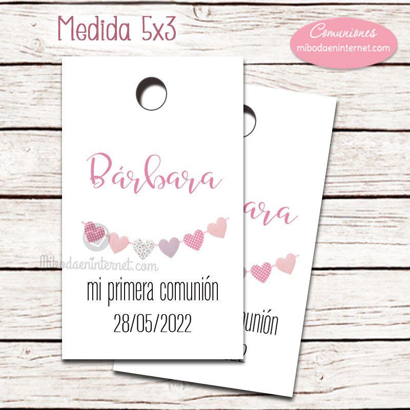 Etiqueta detalle Primera Comuni�n ni�a Guirnalda