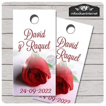Etiqueta detalle Boda Rosa de Luxe