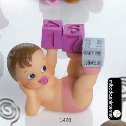 Bebé Calendario Perpétuo Rosa