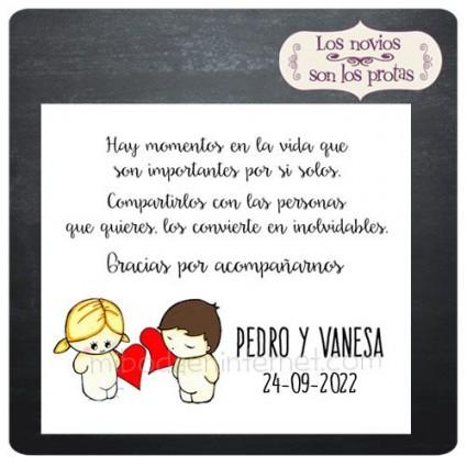 Tarjeta Agradecimiento Aires Amor