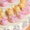 Niña Bebé sobre animalito rosa Tarta Cajita