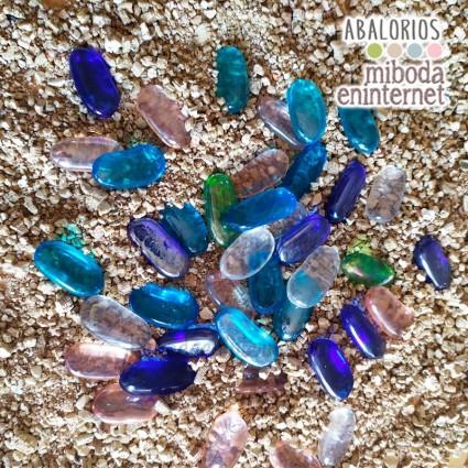 Piedras de cristal ovaladas 25 ud