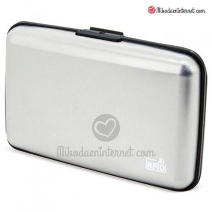 Tarjetero RFID Aluminio