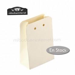 Caja baja cartón color marfil Económica 10x5,5x3,5