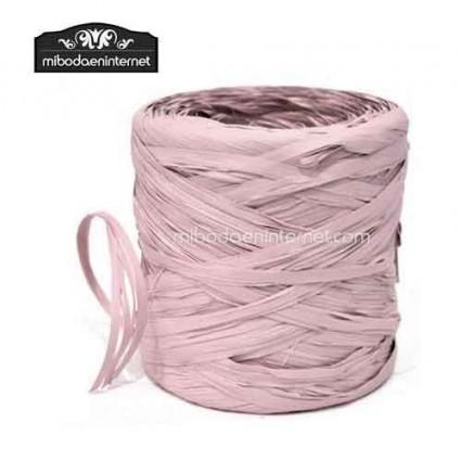 Rafia Vintage rosa empolvado - precio por metro