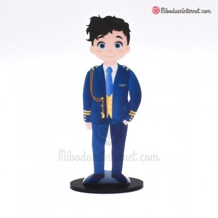 Caketopper Niño Comunión Almirante Azul