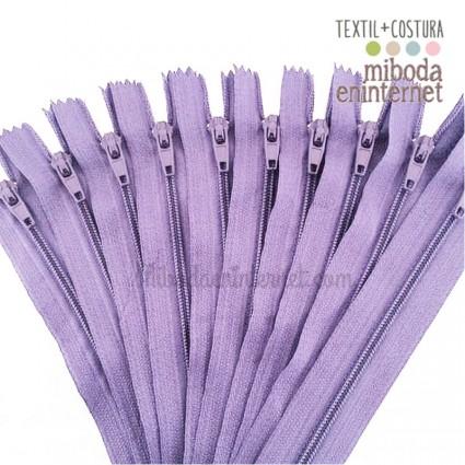 Cremallera nylon 23 cms lila