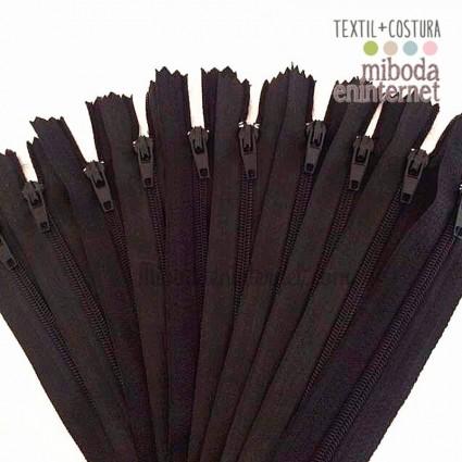 Cremallera nylon 23 cms negro