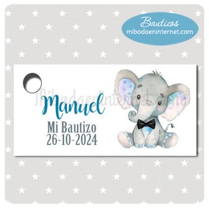 Etiqueta Bautizo Elefantito