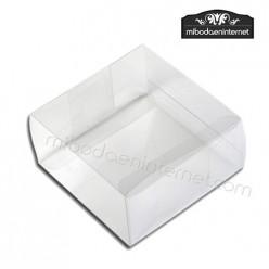 Caja Acetato transparente Cuadrada 5.7x5.7x2.5 cm