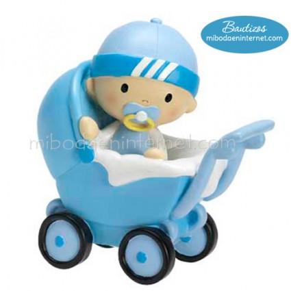 Figura Pastel Bautizo Hucha Bebé City Boy 17 cm