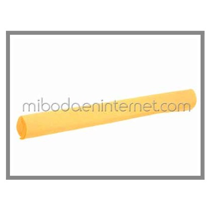 Rollo Papel Crepé Amarillo Huevo 50cms x 2,5 mts