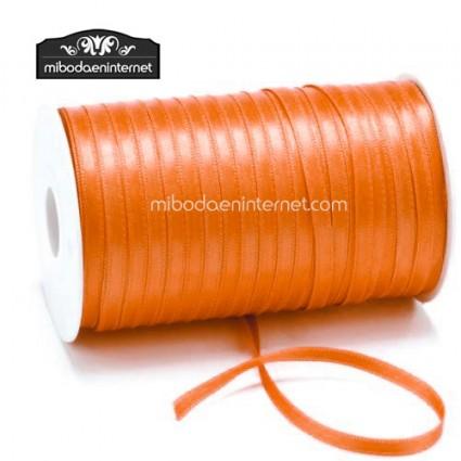 Cinta Raso Naranja 3mm - Metro