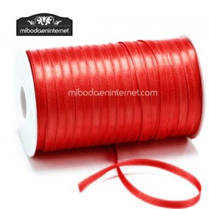 Cinta Raso Rojo 3mm - Metro