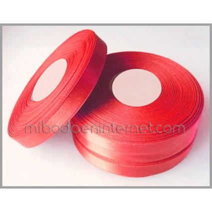 Cinta Raso Rojo 10mm - Metro