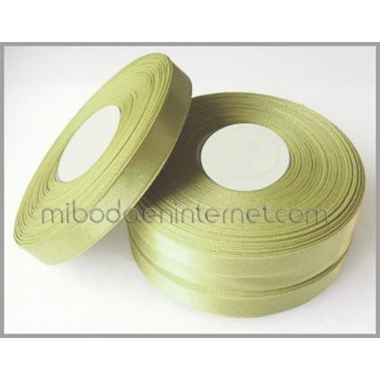 Cinta Raso Verde Manzana 10mm - Metro