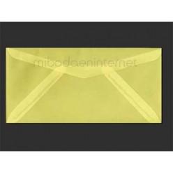 Sobre Americano Vegetal Color Amarillo Pastel